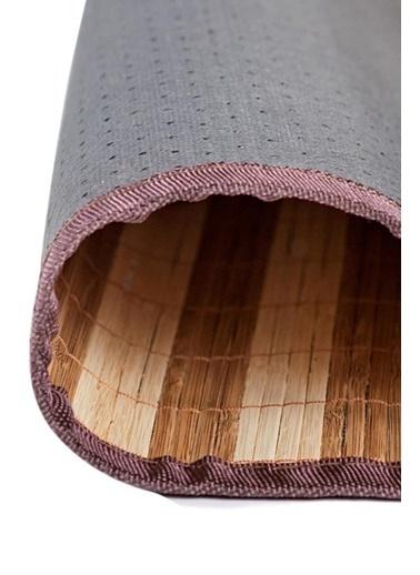 Giz Home Bambu Kilim Kahve Çizgili Kahve